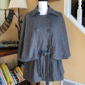 east 5th cape sleeve pea coat grey L/XL
